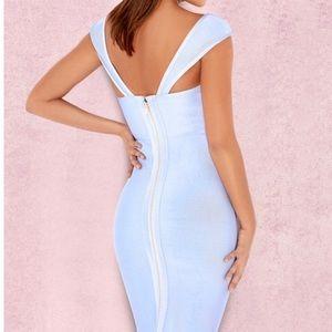 House of CB Dresses - House of CB London Anelle Blue Bandage Dress